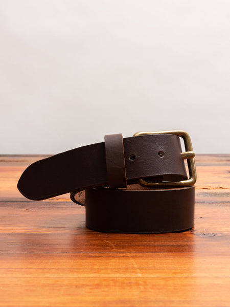 Pioneer Leather Belt in Amber