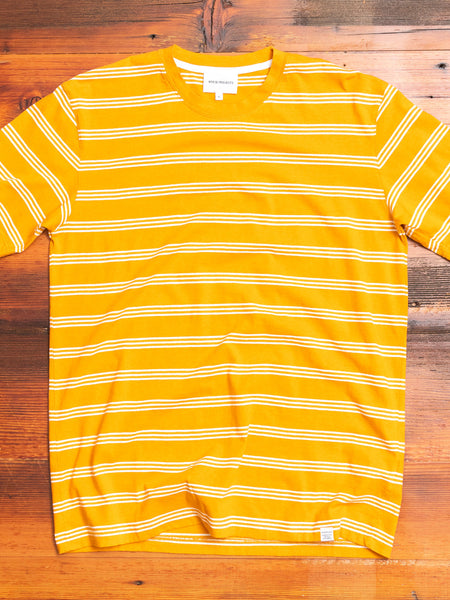 Johannes Stripe T-Shirt in Cadmium Orange