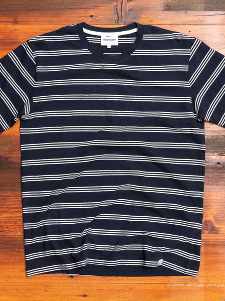 Johannes Stripe T-Shirt in Dark Navy