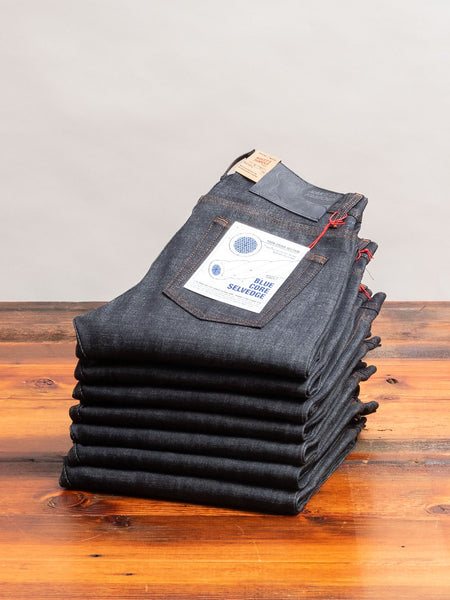 """Blue Core"" 12.5oz Selvedge Denim - Weird Guy Fit"