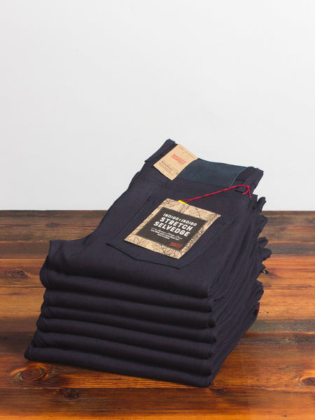 """Indigo/Indigo Stretch"" 12.5oz Selvedge Denim - Super Guy Fit"