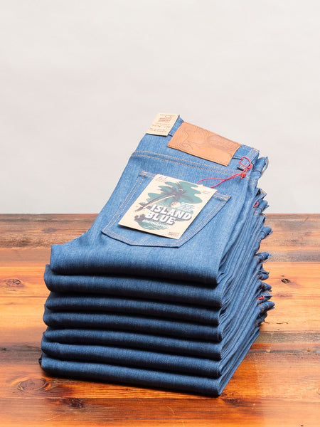 """Island Blue"" 9.5oz Stretch Selvedge Denim - Super Guy Fit"