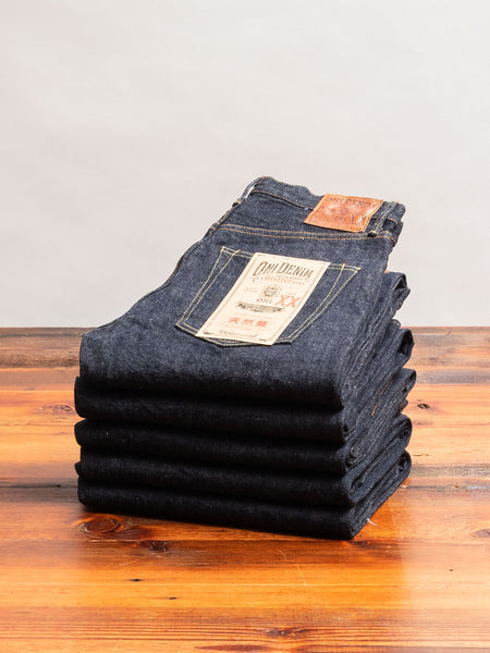 "022NIXX ""Natural Indigo"" 16.5oz Selvedge Denim - Relaxed Straight Fit"