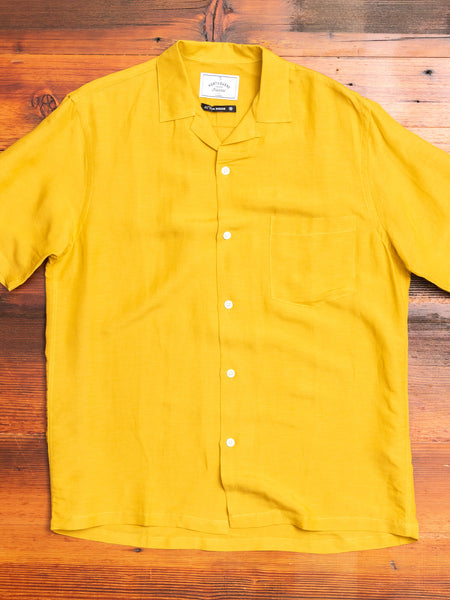 Catown Button-Up Shirt in Yellow