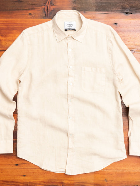 Linen Button-Up Shirt in Raw