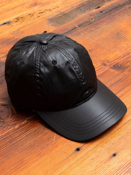Baseball Cap in Black Tech