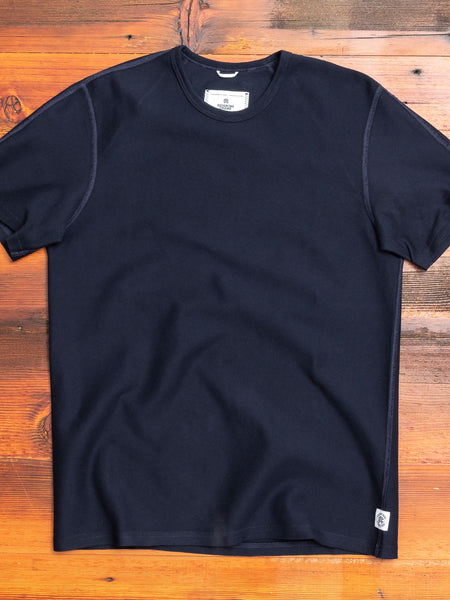 Reverse Twill Terry T-Shirt in Navy