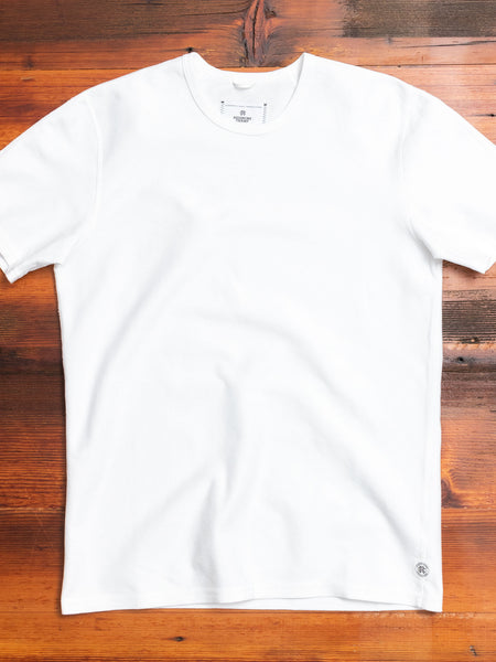 Reverse Twill Terry T-Shirt in White