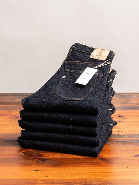SR-019 18oz Rinsed Selvedge Denim - Relaxed Tapered Fit
