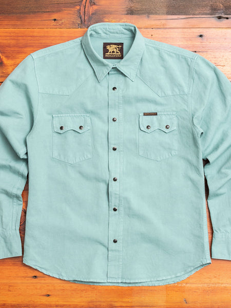 Dollard Western Shirt in Oil Blue