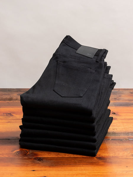 """Cryptic Stealth"" 13.5oz Black Selvedge Denim in SK"