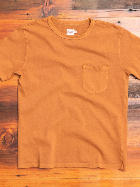 Heavy Gauge Pocket T-Shirt in Tobacco