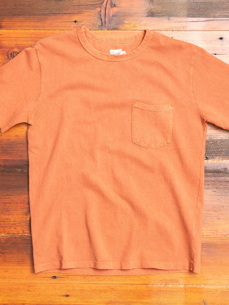 Heavy Gauge Pocket T-Shirt in Rust