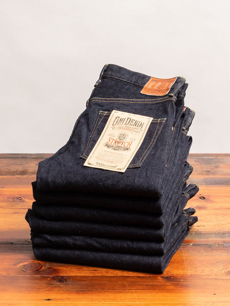 "122S ""Stretch Denim"" 15oz Stretch Selvedge Denim - Relaxed Tapered Fit"