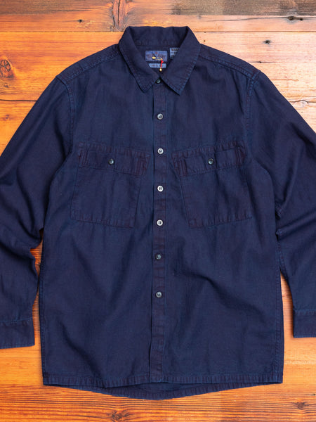 Big Pocket Twill Shirt in Pure Indigo