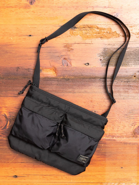 """Force"" Shoulder Bag in Black"