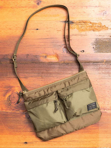 """Force"" Shoulder Bag in Olive Drab"