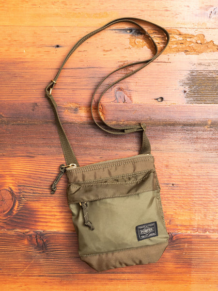 """Force"" Shoulder Pouch in Olive Drab"
