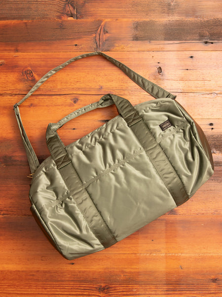 """Tanker"" 2-Way Boston Bag (M) in Sage Green"