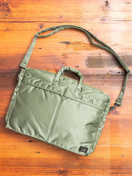 """Tanker"" 2-Way Briefcase in Sage Green"