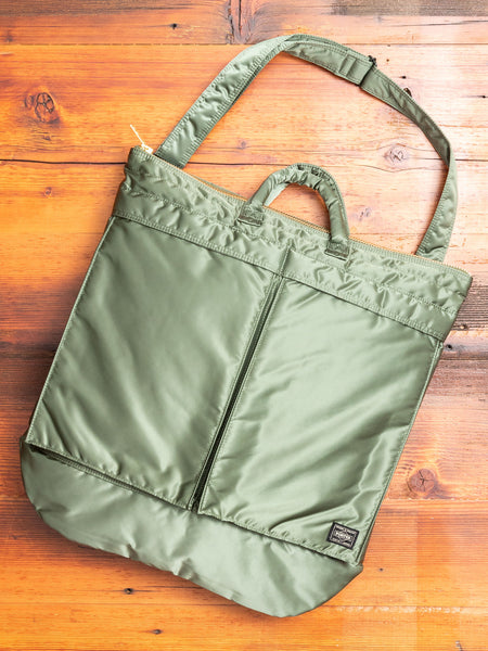 """Tanker"" 2-Way Helmet Bag in Sage Green"