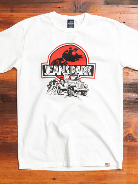 """Jeans Park"" T-Shirt in White"