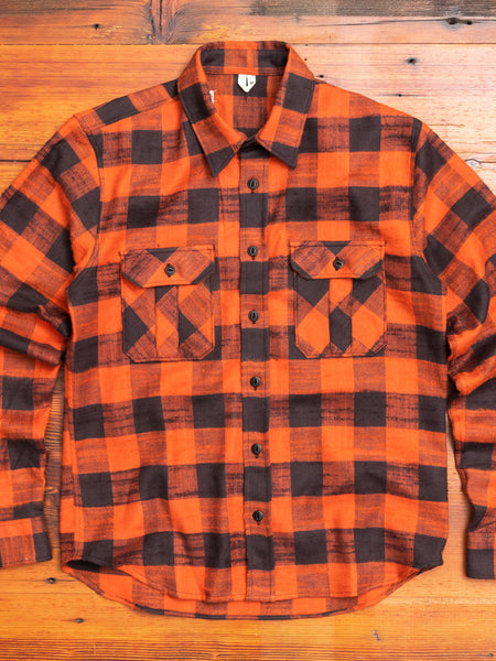 Walton Work Shirt in Rust Black