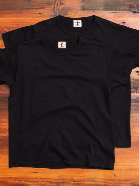 2-Pack Loopwheel Tee in Black