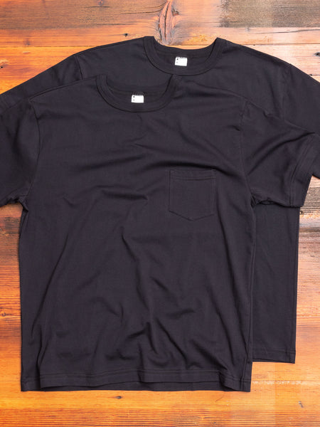2-Pack Pima Pocket T-Shirts in Black