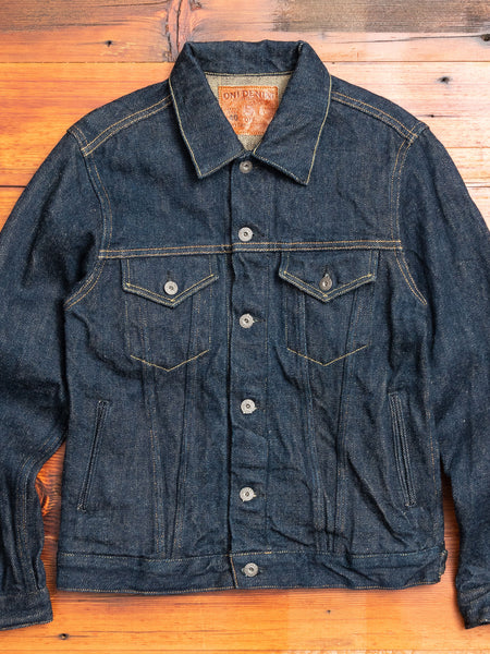 "02527P-ZR ""Secret Denim"" 20oz Selvedge Denim Jacket"