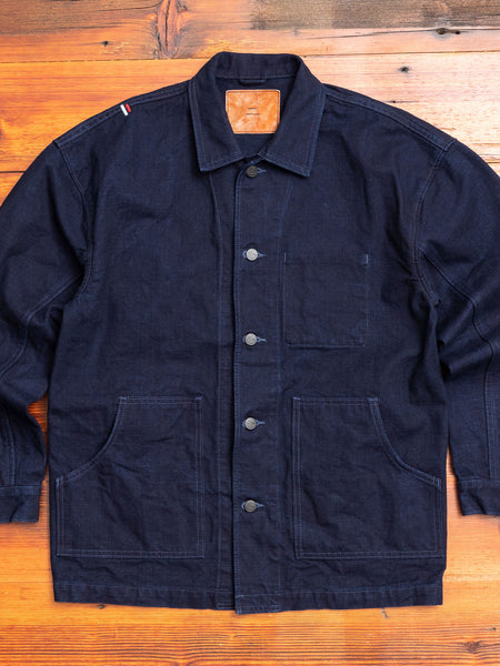 "YOUJK ""Yoroi"" 25oz Canvas Utility Jacket in Indigo"