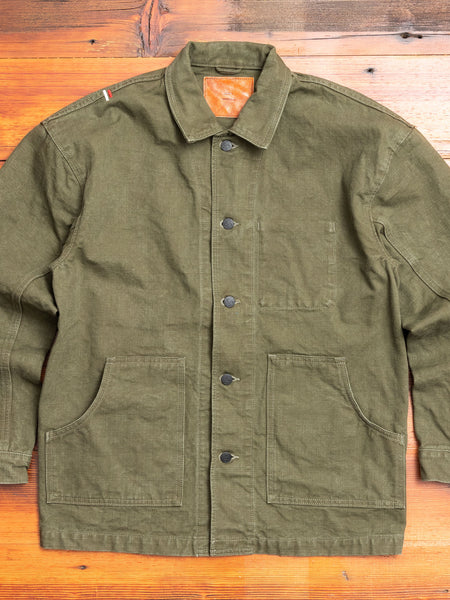"YOUJK ""Yoroi"" 25oz Canvas Utility Jacket in Olive"