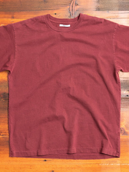 University T-Shirt in Oxblood