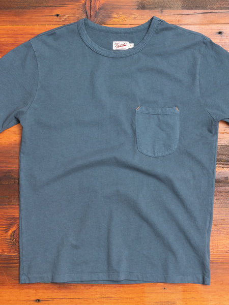 9oz Pocket T-Shirt in Blue