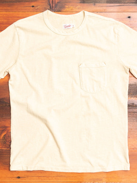 9oz Pocket T-Shirt in Cream