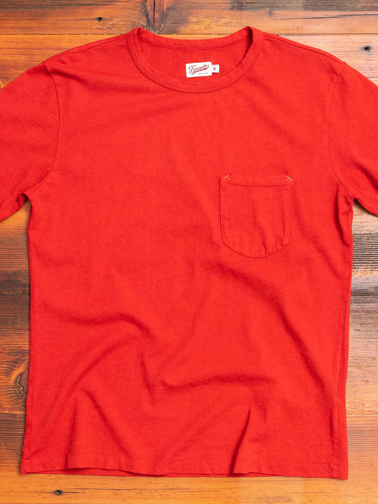 9oz Pocket T-Shirt in Red