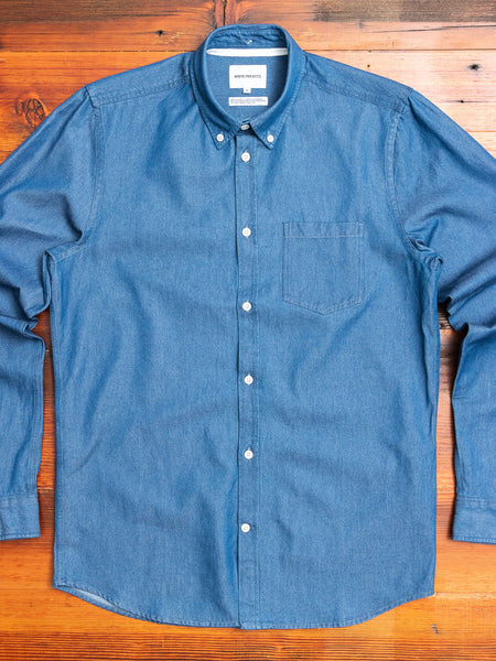 Anton Denim Button Down Shirt in Sunwashed