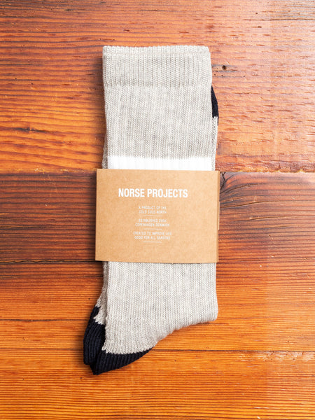 Bjarki Sport Socks in Light Grey Melange