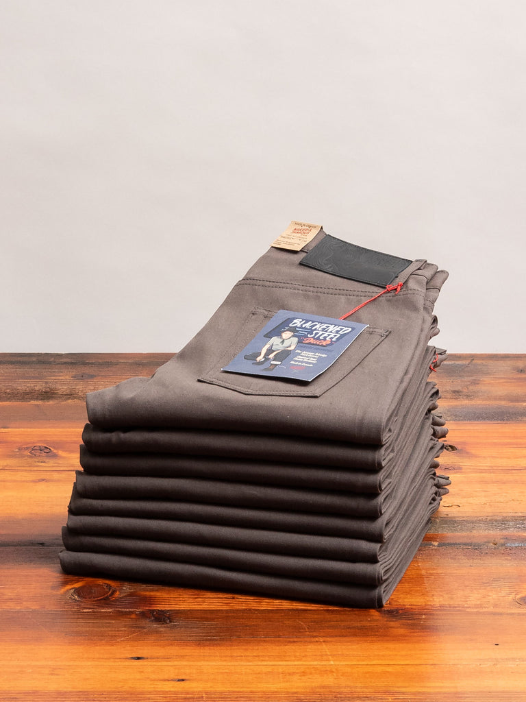 """Blackened Steel"" 10oz Selvedge Duck Canvas - Easy Guy Fit"