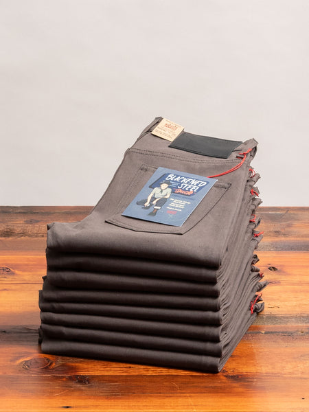 """Blackened Steel"" 10oz Selvedge Duck Canvas - Super Guy Fit"