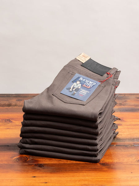"""Blackened Steel"" 10oz Selvedge Duck Canvas - Weird Guy Fit"