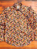 """Japan Festival"" Button Down Shirt in Multi"