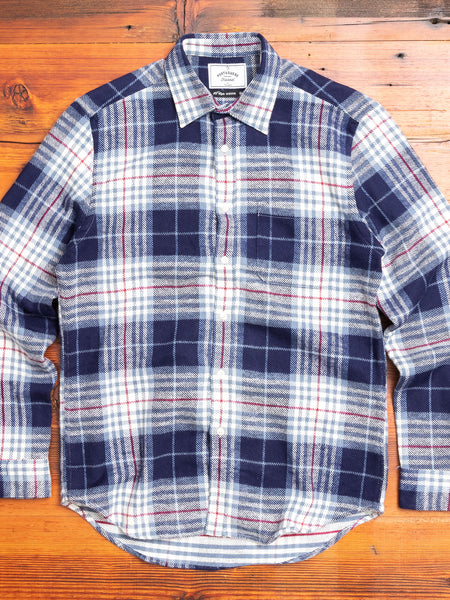 Bleeckers Check Button-Up Shirt in Blue
