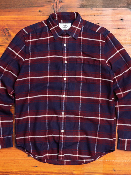Cruise Button-Up Shirt in Maroon