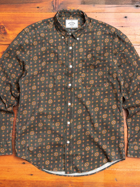 Jazz Club Button-Up Shirt in Green