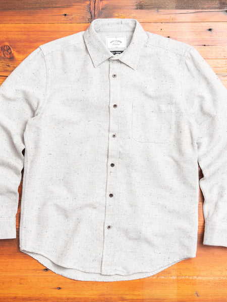 Rude Button-Up Shirt in Light Grey