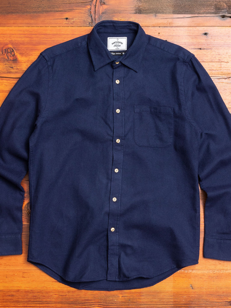 Teca Button-Up Shirt in Navy