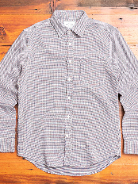 Tricot Button-Up Shirt in Blue