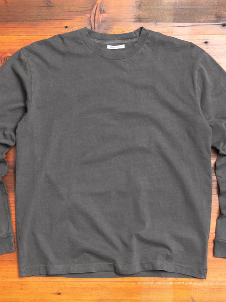 Long Sleeve University T-Shirt in Carbon