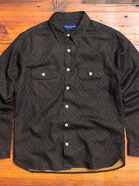 Benson Work Shirt in Black Southwestern